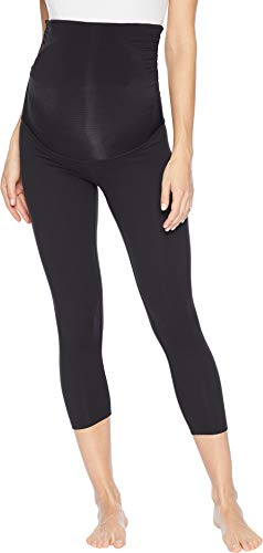 Beyond Yoga Women's Fold Down Maternity Capri Leggings Jet Black Small 21 21