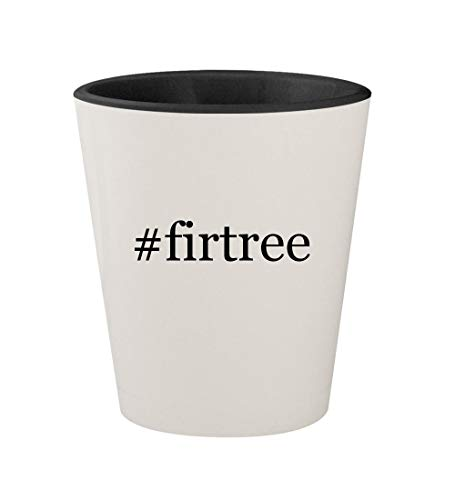 (#firtree - Ceramic Hashtag White Outer & Black Inner 1.5oz Shot Glass)