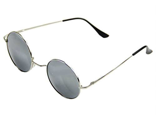 de Montura de sol Plata de Gafas Lentes los de años estilo hippie Plata 60 dHw5qx87