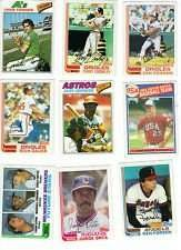 100 Vintage Collectible Baseball Cards (1974-1985)