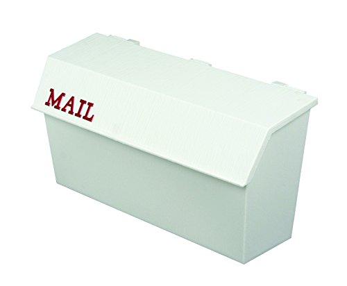 White Wall Mount Mailbox (Flambeau T-H6003WT Classic Wall Mount Mailbox, Wood Grain Texture, White)