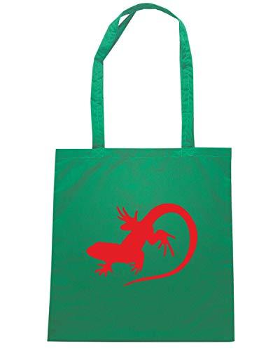 OLDENG00848 Shopper LIZARD LOGO Shirt Verde Borsa Speed 7wRgpp