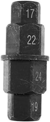 Herramienta de eje de motocicleta rueda delantera de motocicleta 17 19 22 Herramienta de extracci/ón de controlador de husillo hexagonal de eje de 24 mm