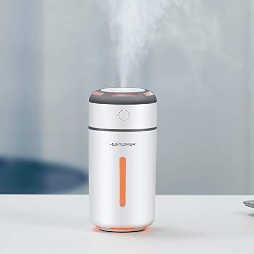 Qiaole bunte Lichter USB Mini-Luftbefeuchter Auto Hause Reinigung Luftbefeuchter - Weiß