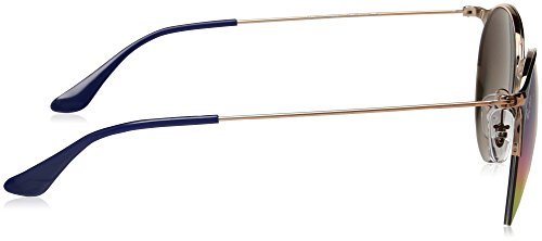 Unisex mm Polarized Ray Copper Metal Top 50 Iridium Ban Sunglasses Blue Round Non qpESp