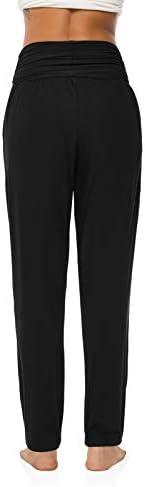 OYANUS Womens Yoga Sweatpants Wide Leg Loose Comfy Lounge Pants Workout Joggers Pants with Pockets 4