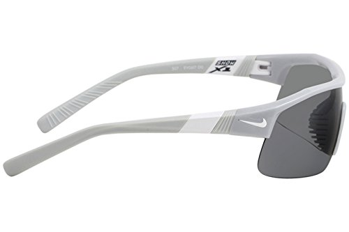 Nike Golf Show X1 Sunglasses, Wolf Grey/White Frame, Grey with Silver Flash/Outdoor Tint Lens by Nike Golf (Image #2)