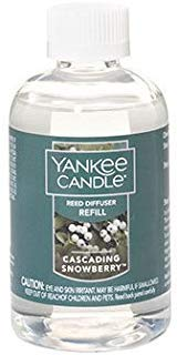 (Yankee Candle Cascading Snowberry Reed Diffuser Refill Oil 4 oz)