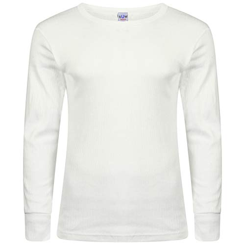 XXL MENS THERMAL T SHIRT LONG SLEEVED WARM VEST UNDERWEAR WHITE OR CHARCOAL S