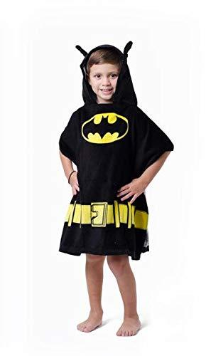 DC Comics Boys 'Batman Superhero' Costume Hooded Beach Bath Towel, Black, 4-7 ONE SIZE