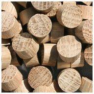 WIDGETCO 7/16'' Oak Wood Plugs, End Grain