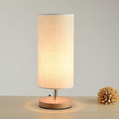 La lampe de table en bois table de chevet moderne minimaliste lampe, les chambres dans les pays nordiques ont Hommesé des veilleuses lampes de table lampe de table en bois lampes Décoration tissu
