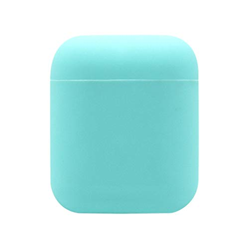 Blue Skin Silicone Solid (YRD TECH Case Protective Silicone Cover and Skin for Apple AirPods, Best Gift for Girls and Women-Solid Color (Blue))
