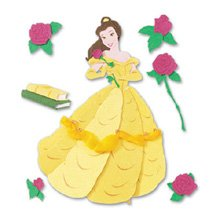 Disney Princess 3-D Stickers - Belle w/ Flowers