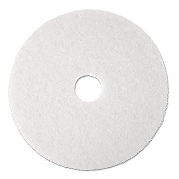 3M Commercial Ofc Sup Div 08476 Super Polish Pad, Removes Scuff/Black Heel, 12 in., 5/CT, White 3M 08476 MMM08476-UN0912NU