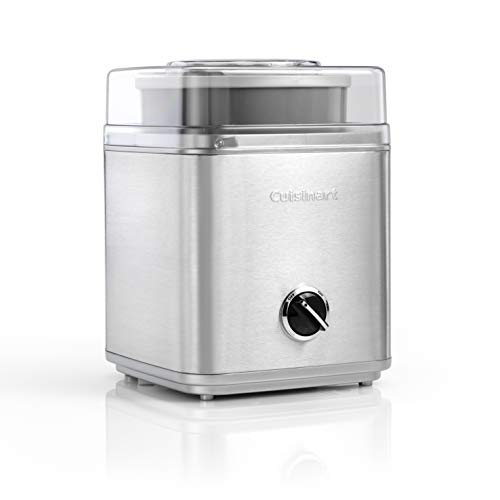 Cuisinart Ice Cream Deluxe, Pre-Freeze Ice Cream, Frozen Yoghurt and Sorbet Maker, Silver, ICE30BCU