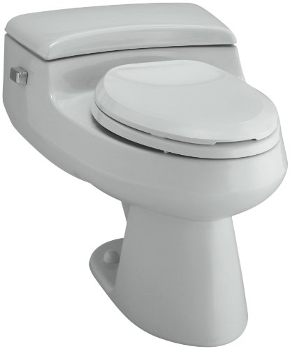 Rough Elongated Grey Ice (Kohler K-3597-95 San Raphael Comfort Height Pressure Lite 1.0 GPF Elongated Toilet, Ice Grey)