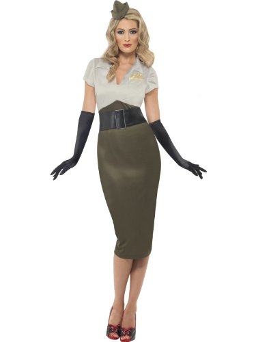 [WW2 Army Pin-Up Spice Darling Plus Size Costume] (Military Costumes For Women)