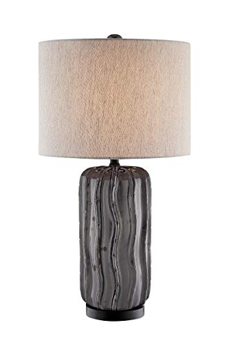 Lite Source Cacto Aged Gunmetal Ceramic Table Lamp
