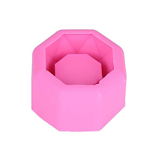 Flower Pot Mold Silicone DIY Handmade Candle Soap Bottle Mold DIY Planter Planter Vase Ashtray Mold Tool Easy to Release and Clean (BK1130)