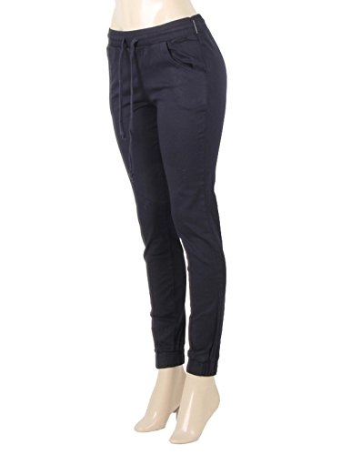 (Red Fox Women's Twill Jogger Pants (XXX-Large, Navy))