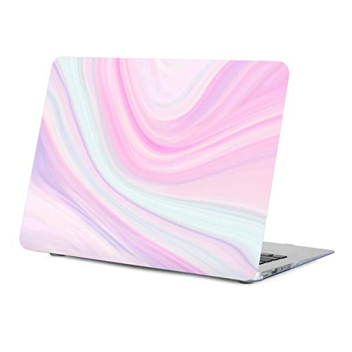 Lapac MacBook Air 13.3 Inch Case Pink, Marble Design Hard Shell Rubber Coated Soft-Touch Protective Case Cover for MacBook Air 13.3 inches (Model: A1466/A1369) with Keyboard Cover