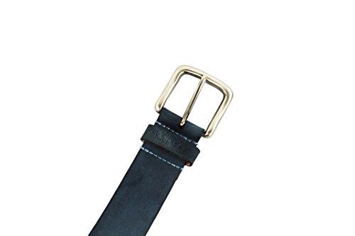 Ora Il 20% Di Vendita! Cintura In Pelle Liscia In Pelle Color Blu Navy Taglia 115 In - Zerimar