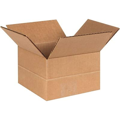 - 25//Bundle SI Products MD664 Brown 6 x 6 x 4 Multi-Depth Shipping Boxes 4 Bundles