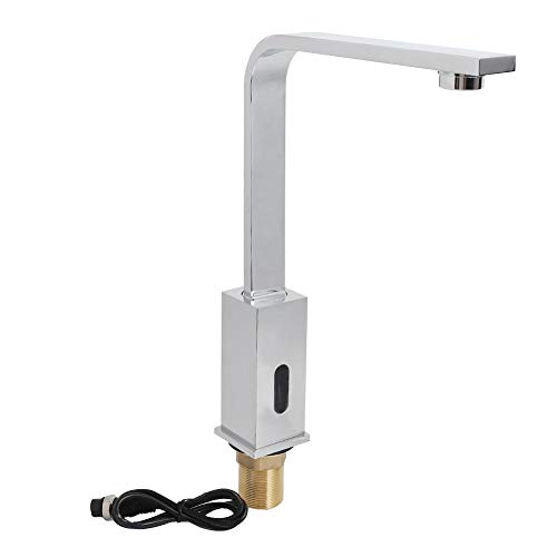 (Induction Faucet Copper Free Hands-Free Bathroom Medical Sink Infrared Automatic Sensor Faucet Basin Sink Faucet Single Cold Tap G1/2