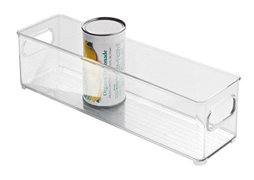 InterDesign Fridge/Freeze Binz Organizador para nevera, organizador de frigorífico de plástico, cajas de almacenaje apilables, transparente Generico 75030