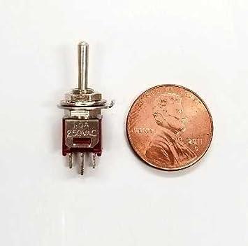 Executive Communication Systems Ecs 3-Wege-Sub Miniatur 3 Amp Micro Mini-Kippschalter 5