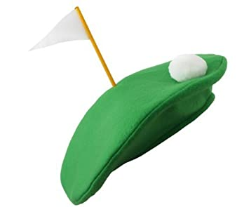 Golf Golfing HAT Novelty Gift Party Green Faux Grass Ball Tee Fancy Dress  Hat ecc5085da31