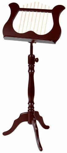 Stageline MS60MA Lyre-Style Music Stand, Mahogany