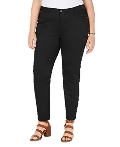 Style & Co Plus Size Straight-Leg Pants in Deep Black (16W)