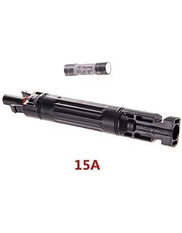 Dovlen Nuevo MC4 Fusible Conector 1000Vdc Macho a Fem PV Solar Portafusibles - 15a