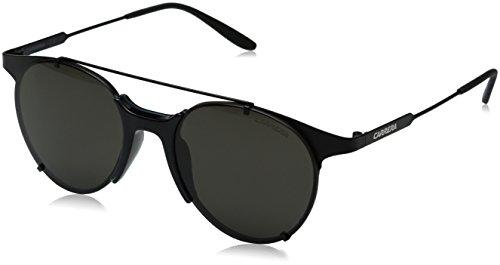 Carrera Men's Ca128s Round Sunglasses, Matte Black/Brown Gray, 52 - Sun Glasses Carrera