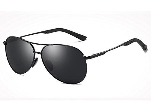 Sol de de Azul para Sol Gafas diseñador Hombres Macho polarizado Anteojos del piernas black gray Gafas Gafas Sunglasses TL Gafas Primavera Guía Plata ECHwtq