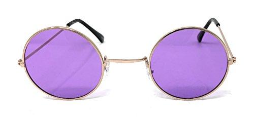 Hommes Unisexe Con Petit Vintage Retro Rondes Qualité Lennon Púrpuras Oro UV400 Lunettes Femmes Elton Lentes Soleil de John Adultes Classique Style WOAnZcqFqz