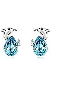 Crystal Stud Earrings - Dolphin Bay Lovers