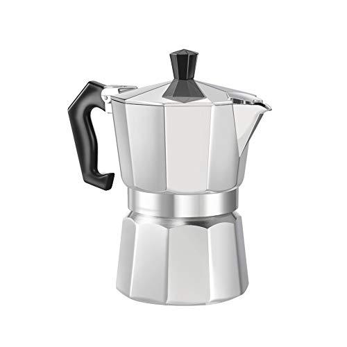 Candybush Cafetera Espresso Moka Pot, cafetera 3/6 Taza de ...