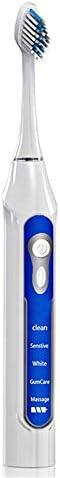 電動歯ブラシ 電動歯ブラシのUSB充電式歯ブラシ大人の保護クリーン充電式電動歯ブラシホワイトニング歯科医が推奨します 大人とティーン向けのスーツケースが含まれています (色 : 青, サイズ : Free size)