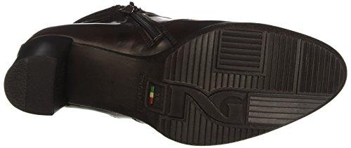 A719850d De Nero Mujer Cerrada Con Zapatos Marrone Para Moro Tacón Punta Giardini manolete 55qtgrHwxF