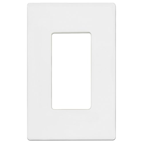 - Enerlites Screwless Decorator Wall Plate Child Safe Cover, Standard Size 1-Gang, Polycarbonate Thermoplastic, White SI8831-W