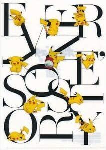Pokemon Center Pikachu Story Plastic Clear File Folder Japanese