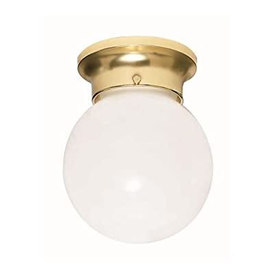 Nuvo 6-Inch Ball Brushed Nickel with White Glass