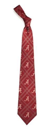 University of Alabama Crimson Tide Mens Plaid Neck Tie