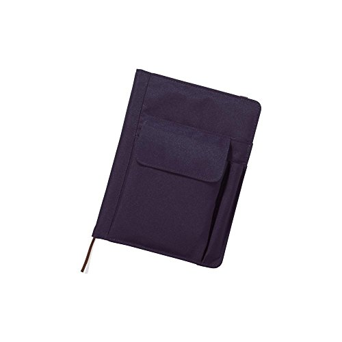 LIHIT LAB. Refillable Notebook with Cover, 7.2 x 9.6 x 1.5 inches, Navy (N-1647-11)