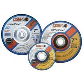 CGW Abrasives 37525 Depressed Center Wheel 4-1/2'' x 1/4'' x 5/8 - 11 Type 27 24 Grit Silicon Carbide - Pkg Qty 10, (Sold in packages of 10)