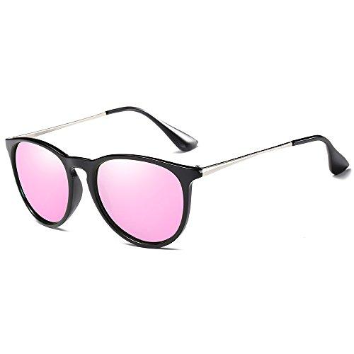 Morpho Diana MS4171 Women's Erika Polarized Sunglasses (pink, - Aviator Mini Sunglasses