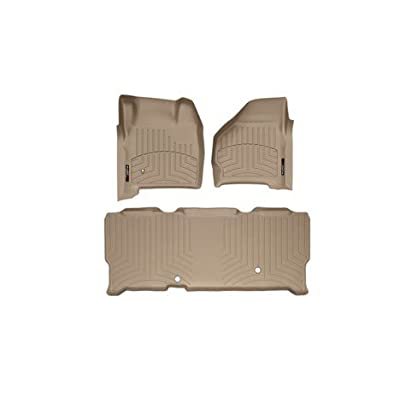 1999-2007 Ford Super Duty (F-250/F-350/F-450/F-550) SuperCab Tan Weathertech Floor Liner (Full Set: 1st & 2nd Row)